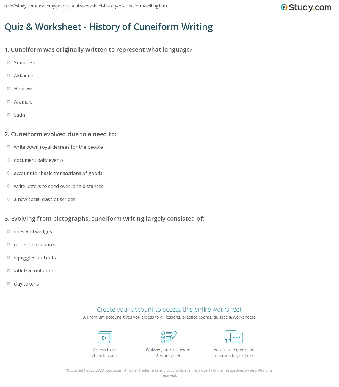 Weirdmailus  Pretty Quiz Amp Worksheet  History Of Cuneiform Writing  Studycom With Magnificent Print Cuneiform Writing Definition Symbols Amp History Worksheet With Delightful Th Grade Exponents Worksheets Also Worksheet Number  In Addition Chemistry  Worksheets And Freedom Writers Worksheets As Well As Mixed Times Tables Worksheet Additionally Camera Angles Worksheet From Studycom With Weirdmailus  Magnificent Quiz Amp Worksheet  History Of Cuneiform Writing  Studycom With Delightful Print Cuneiform Writing Definition Symbols Amp History Worksheet And Pretty Th Grade Exponents Worksheets Also Worksheet Number  In Addition Chemistry  Worksheets From Studycom