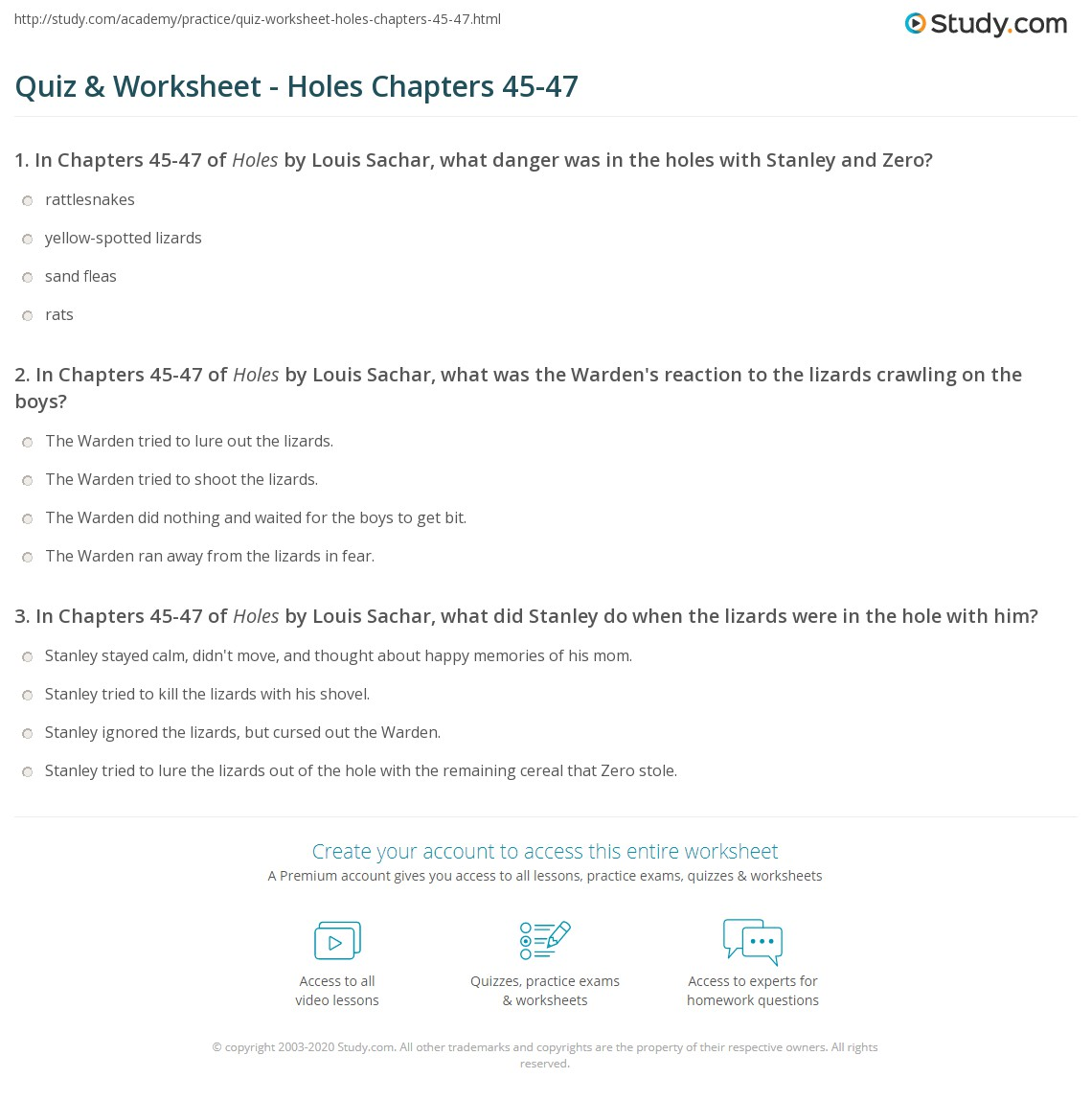 quiz-worksheet-holes-chapters-45-47 Take Away Facts In Math on 2nd grade printable, example double, worksheets 1st grade, roll solve, fourth grade, family chart, worksheets 4th grade, family triangles,