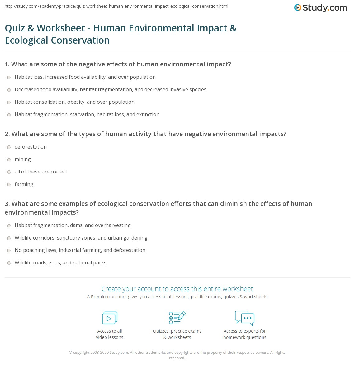 Uncategorized Ecology Worksheets ecology worksheets for environmental science diilz com quiz worksheet human impact ecological