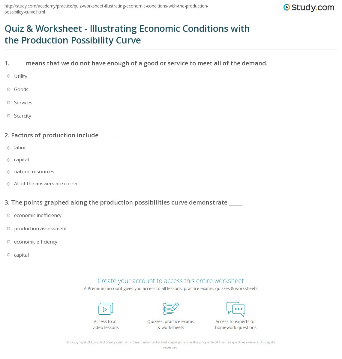 Printables Production Possibilities Curve Practice Worksheet quiz worksheet illustrating economic conditions with the print using production possibility curve to illustrate worksheet