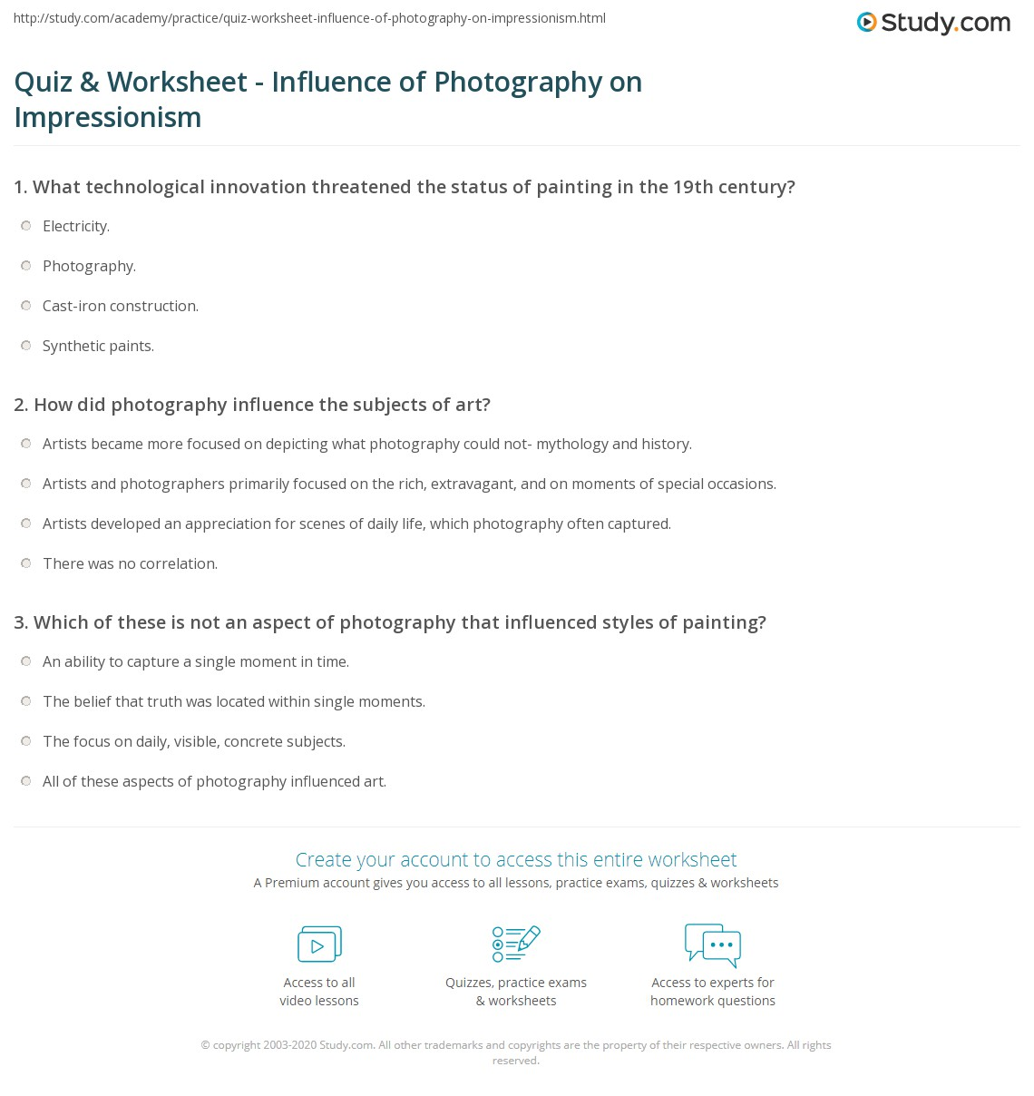 Worksheet photography worksheets mifirental free printables worksheet photography worksheets quiz worksheet influence of photography on impressionism print worksheet robcynllc Choice Image