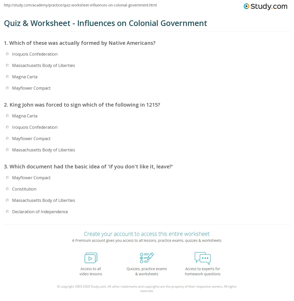 Free Worksheet Icivics Worksheets quiz worksheet influences on colonial government study com print the emergence of worksheet