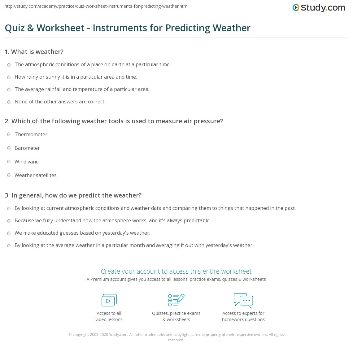 Worksheets Weather Tools Worksheet quiz worksheet instruments for predicting weather study com print the tools maps symbols worksheet