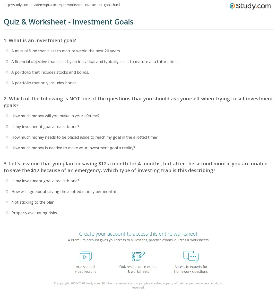 Investor questionnaire—Introduction
