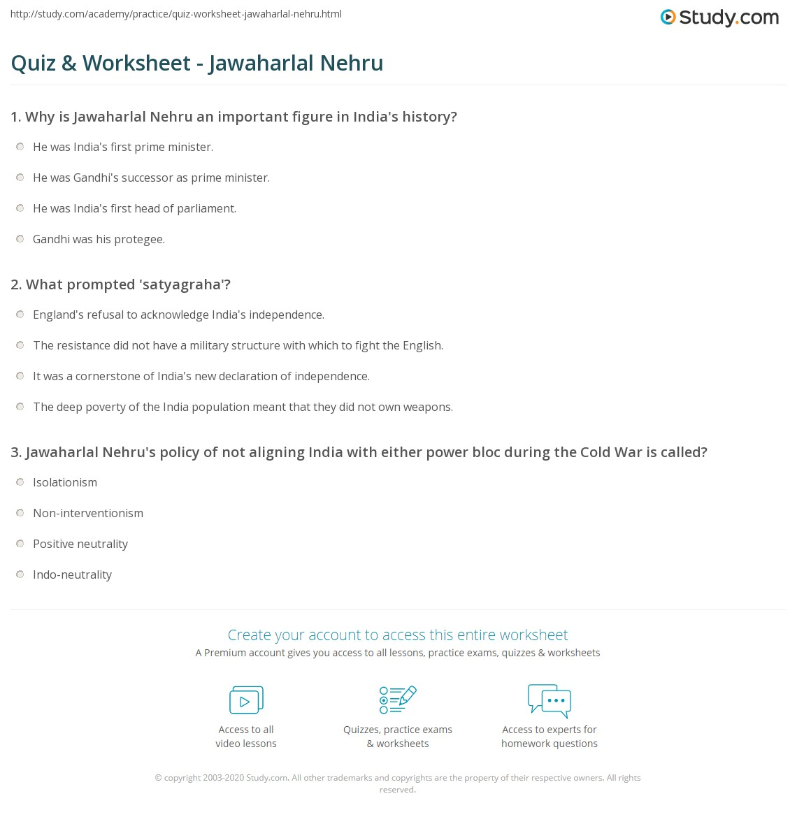 quiz worksheet jawaharlal nehru com print who was jawaharlal nehru biography rule worksheet