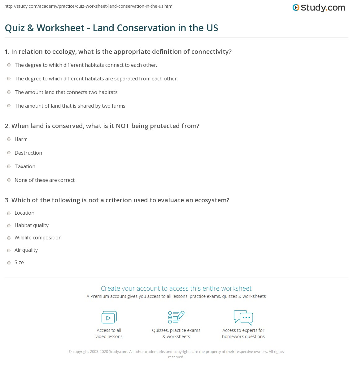 Worksheets Math Worksheets Land quiz worksheet land conservation in the us study com print criteria for evaluation of and most endangered lands worksheet