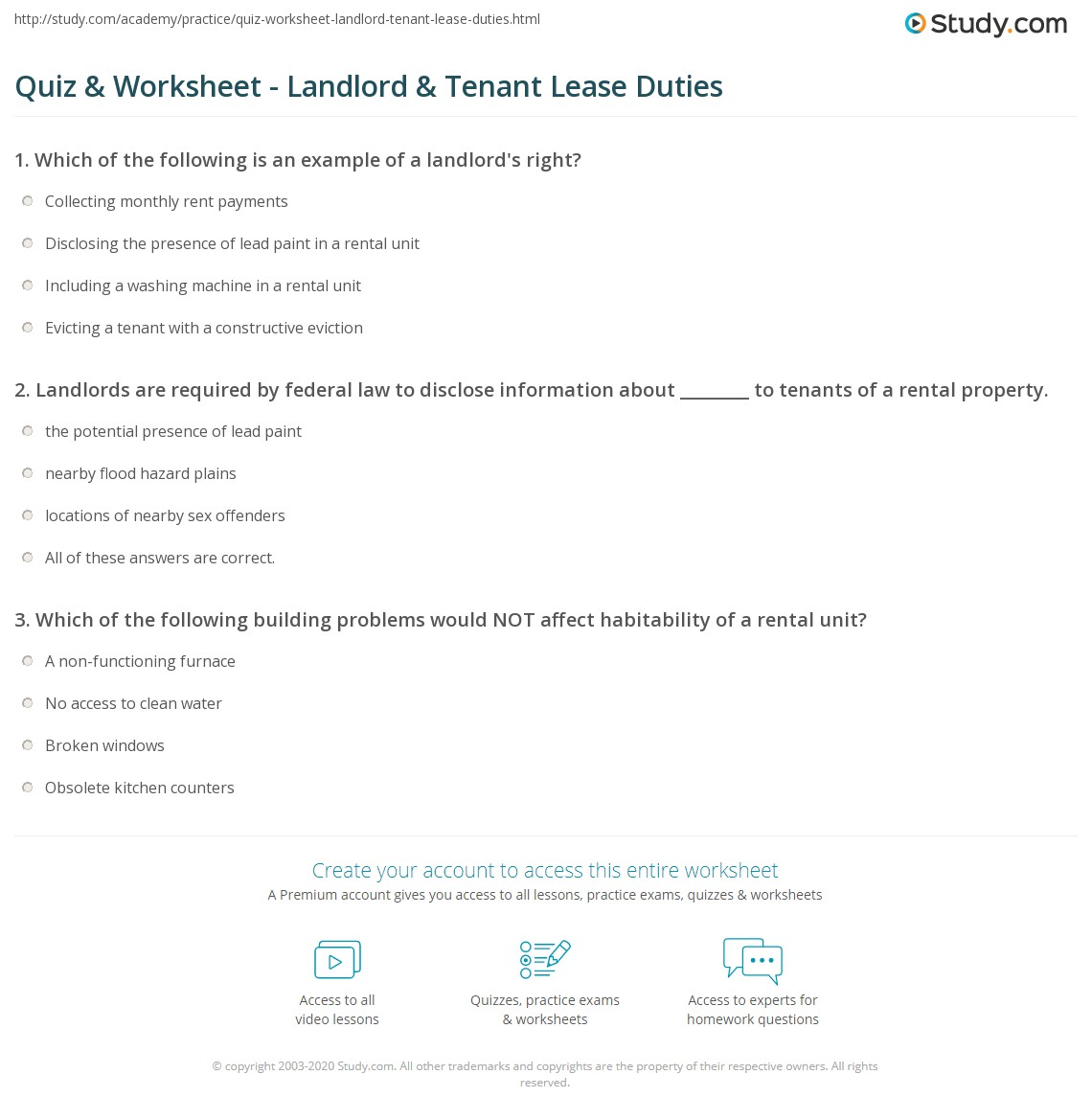 an analysis of the tenant landlord relationship State laws cover many aspects of the landlord tenant relationship, from security deposits to landlord access to rental property the charts in this section include the key statutes pertaining to landlord-tenant law in each state, as well as specific rules on issues such as security deposit limits.
