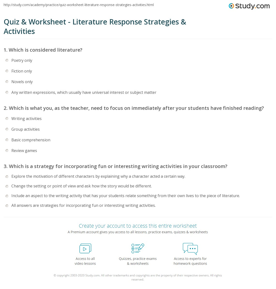 what subjects can you study in college how to start a response to literature