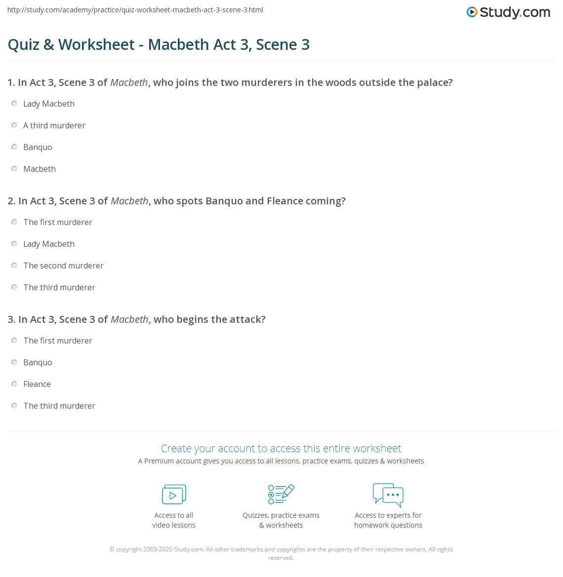 quiz worksheet macbeth act scene com print macbeth act 3 scene 3 summary quotes worksheet