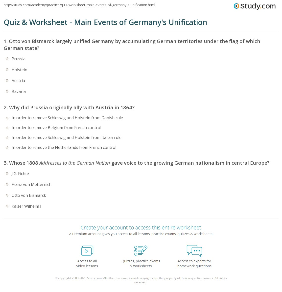 Free Worksheet German Worksheets quiz worksheet main events of germanys unification study com print the germany summary timeline worksheet
