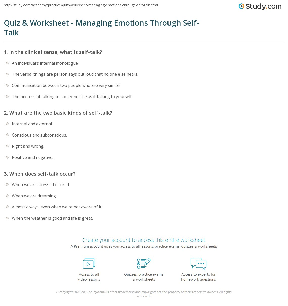 Challenging Negative Thoughts (Worksheet) | Therapist Aid