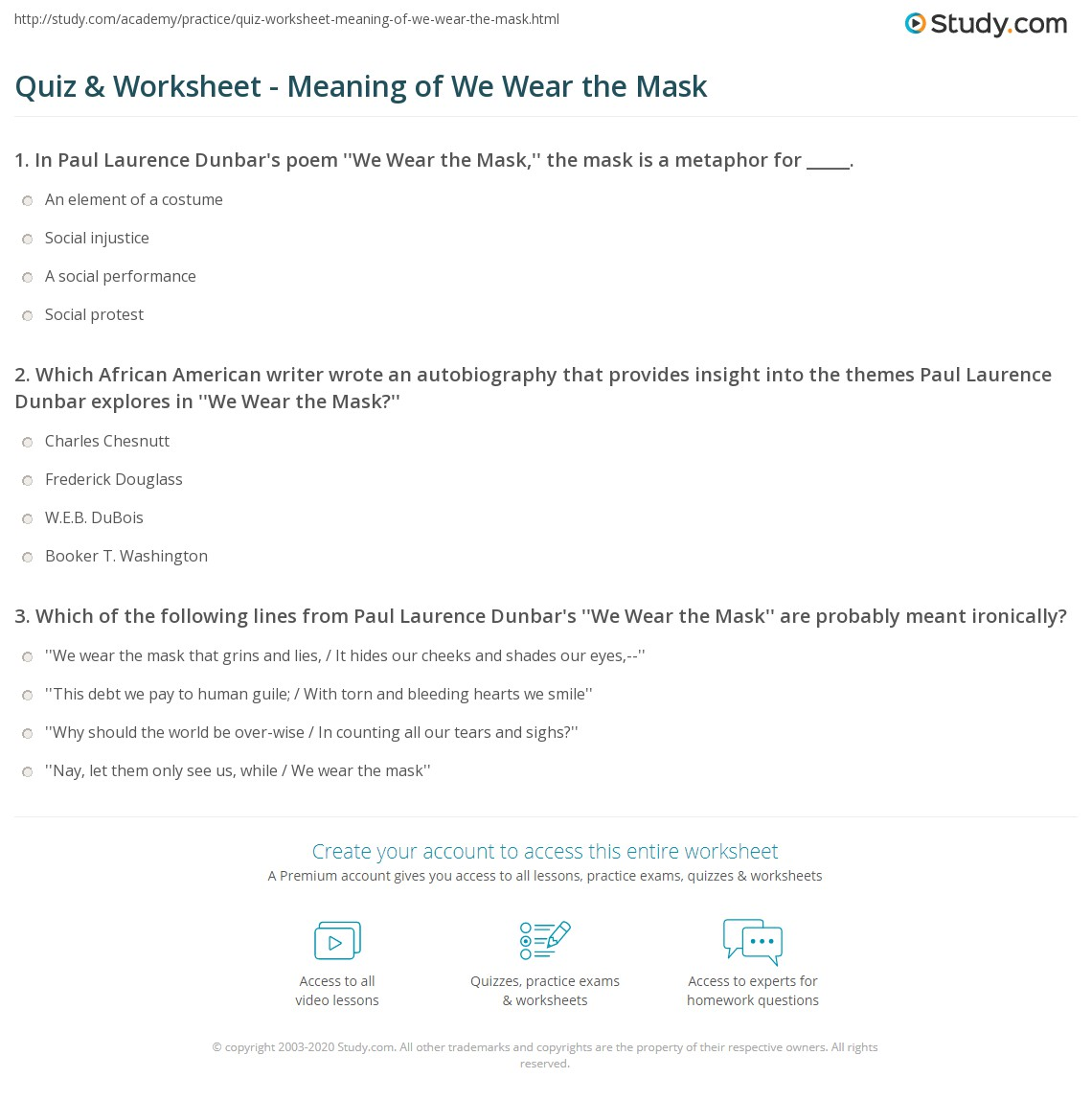 we wear the mask theme essay  we wear the mask theme essay