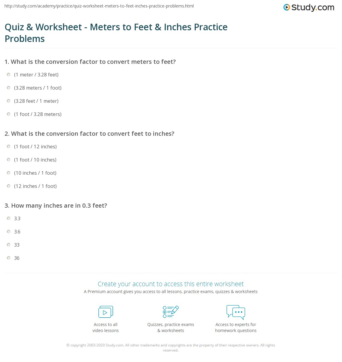 Free Worksheet Feet To Inches Worksheet quiz worksheet meters to feet inches practice problems print 1 62 in how steps worksheet
