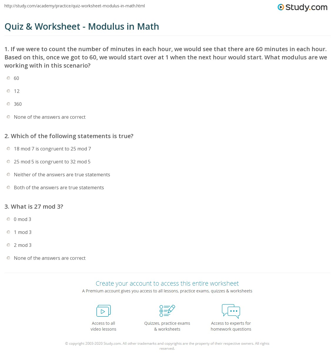 Uncategorized Freshman Math Worksheets quiz worksheet modulus in math study com print definition examples worksheet