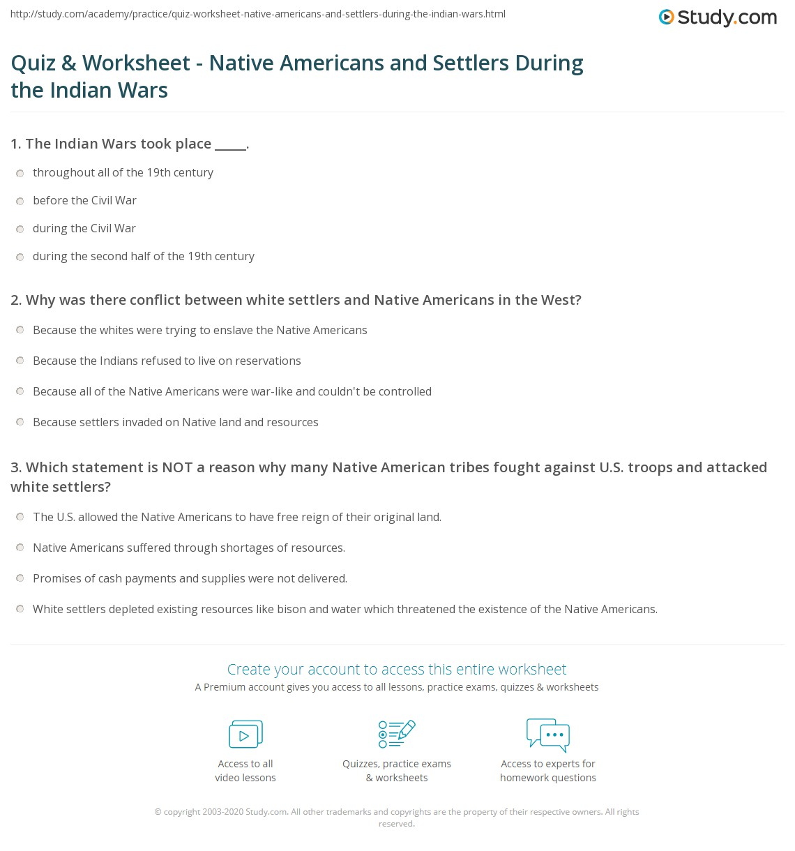 Quiz & Worksheet - Native Americans and Settlers During the Indian  math worksheets, education, multiplication, free worksheets, printable worksheets, and worksheets for teachers Plains Indians Worksheets 1388 x 1140