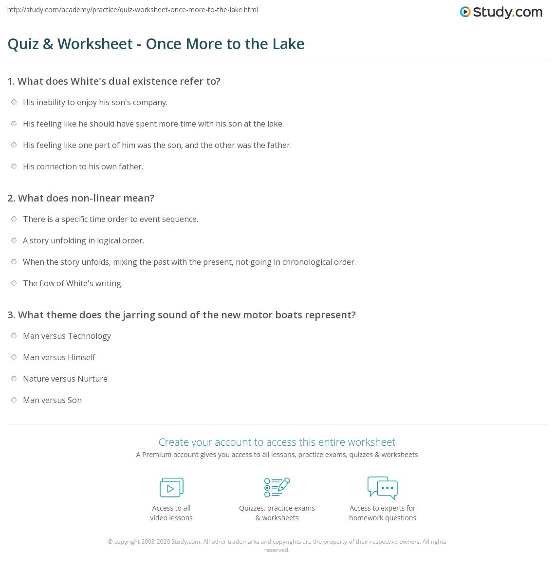 once more by the lake Get an answer for 'what is white's purpose in the essay once more to the lake' and find homework help for other e b white questions at enotes.