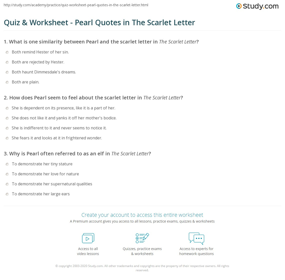 quiz worksheet pearl quotes in the scarlet letter com print pearl quotes in the scarlet letter examples analysis worksheet