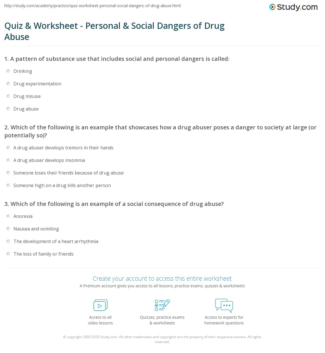 Worksheets Substance Abuse Treatment Worksheets drug addiction worksheets kristawiltbank free printable quiz worksheet personal social dangers of abuse study com print worksheet
