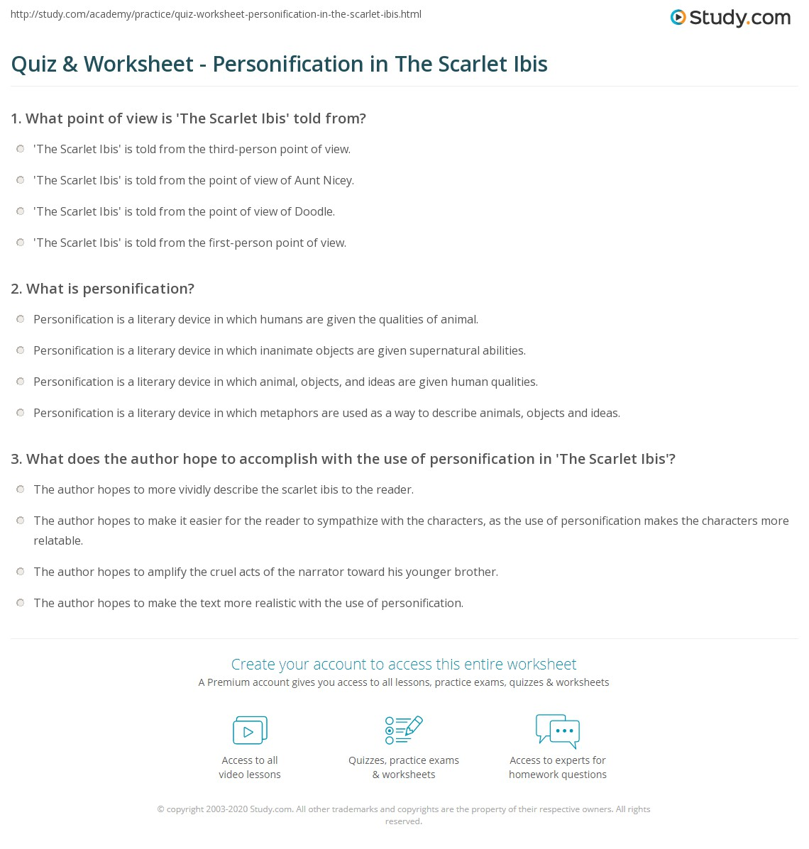 the scarlet ibis essay quiz amp worksheet personification in the scarlet ibis study com quiz amp worksheet personification in the scarlet ibis study com