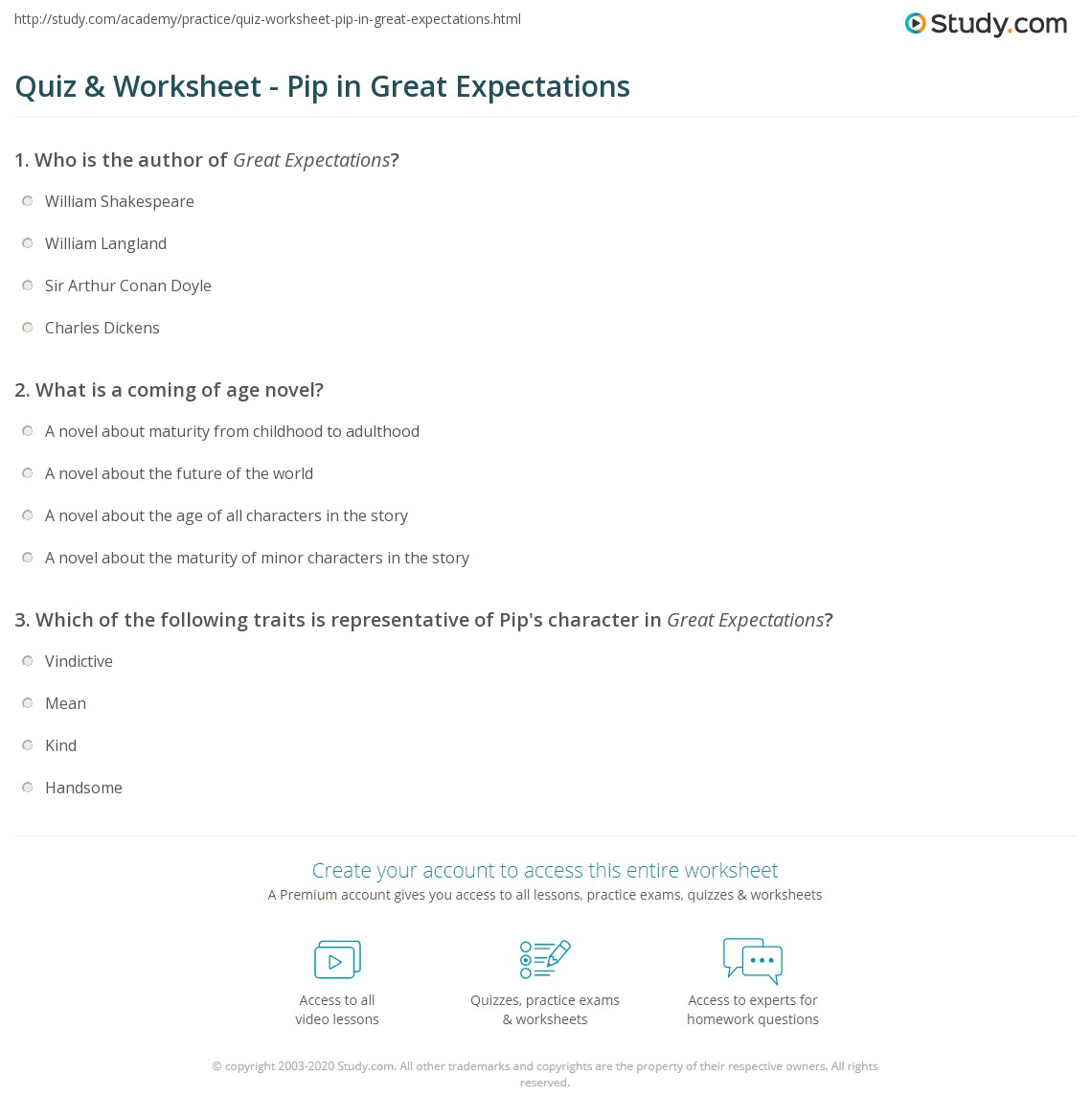 great anticipation templates analysis