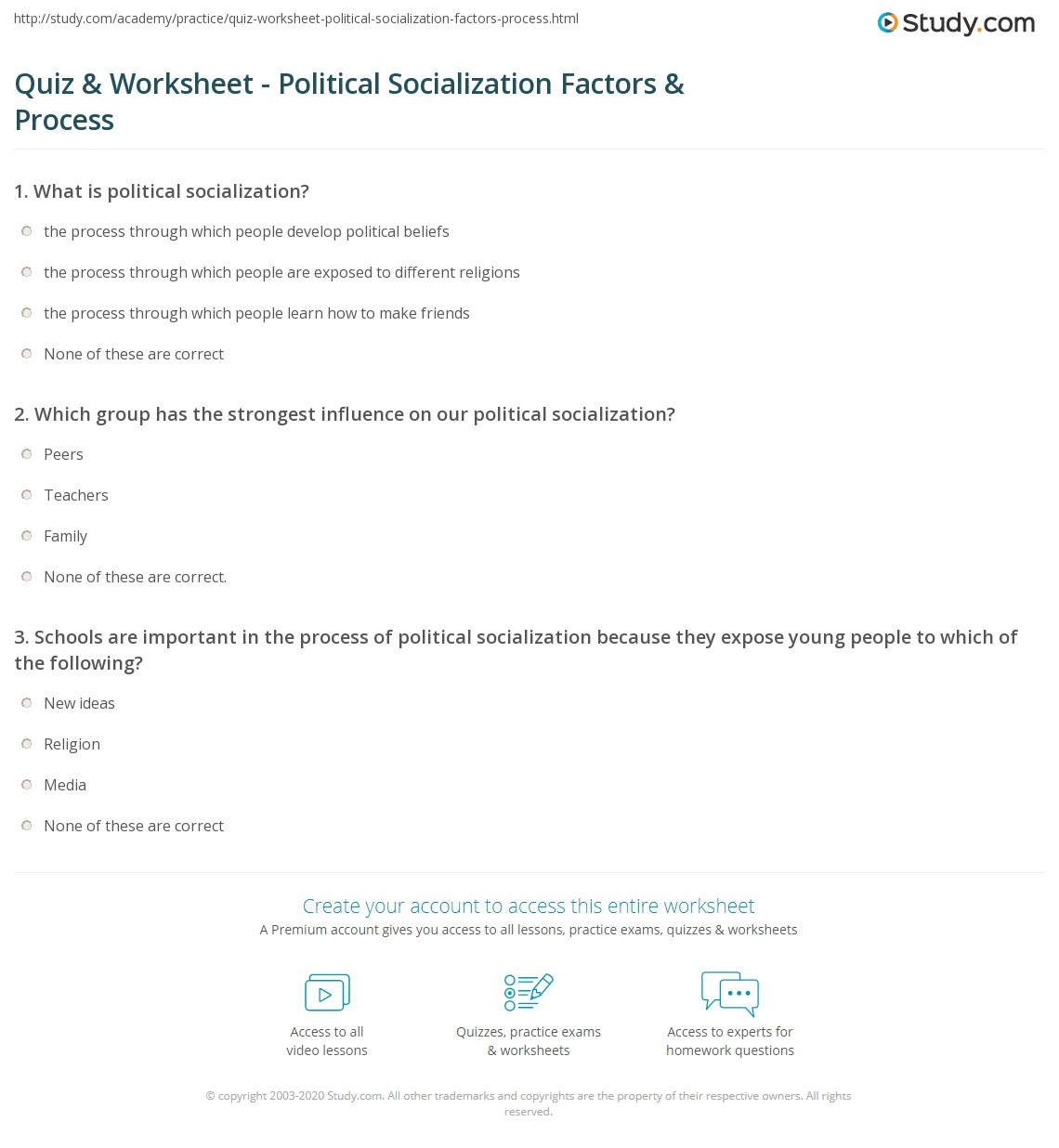 5 factors that influence political socialization Level of modernization and urbanization 5 political socialization political participation: 9 factors apathy influences political participation it is not.