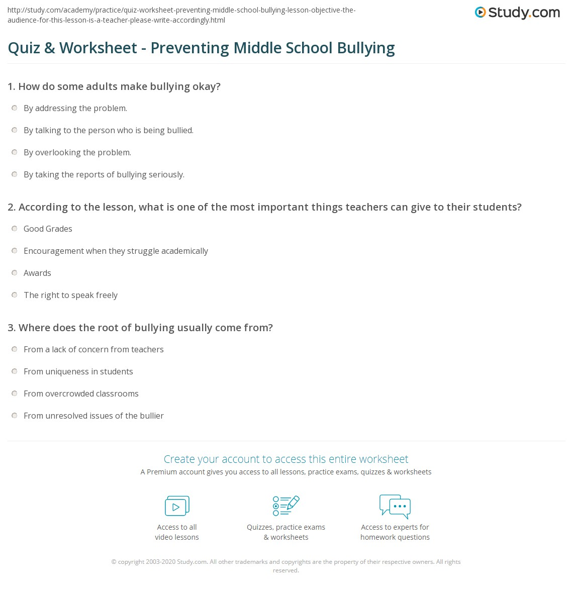 Bullying Worksheets For Middle School Free Worksheets Library – Bullying Worksheets for Kindergarten
