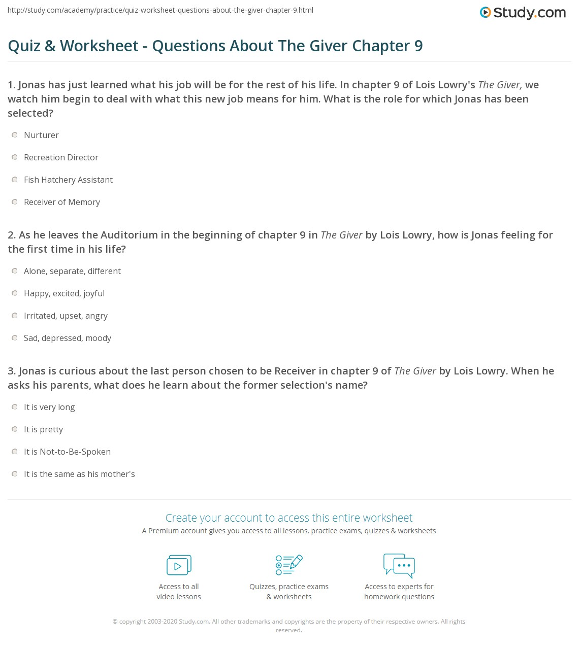 quiz worksheet questions about the giver chapter 9 com print the giver chapter 9 summary quotes worksheet