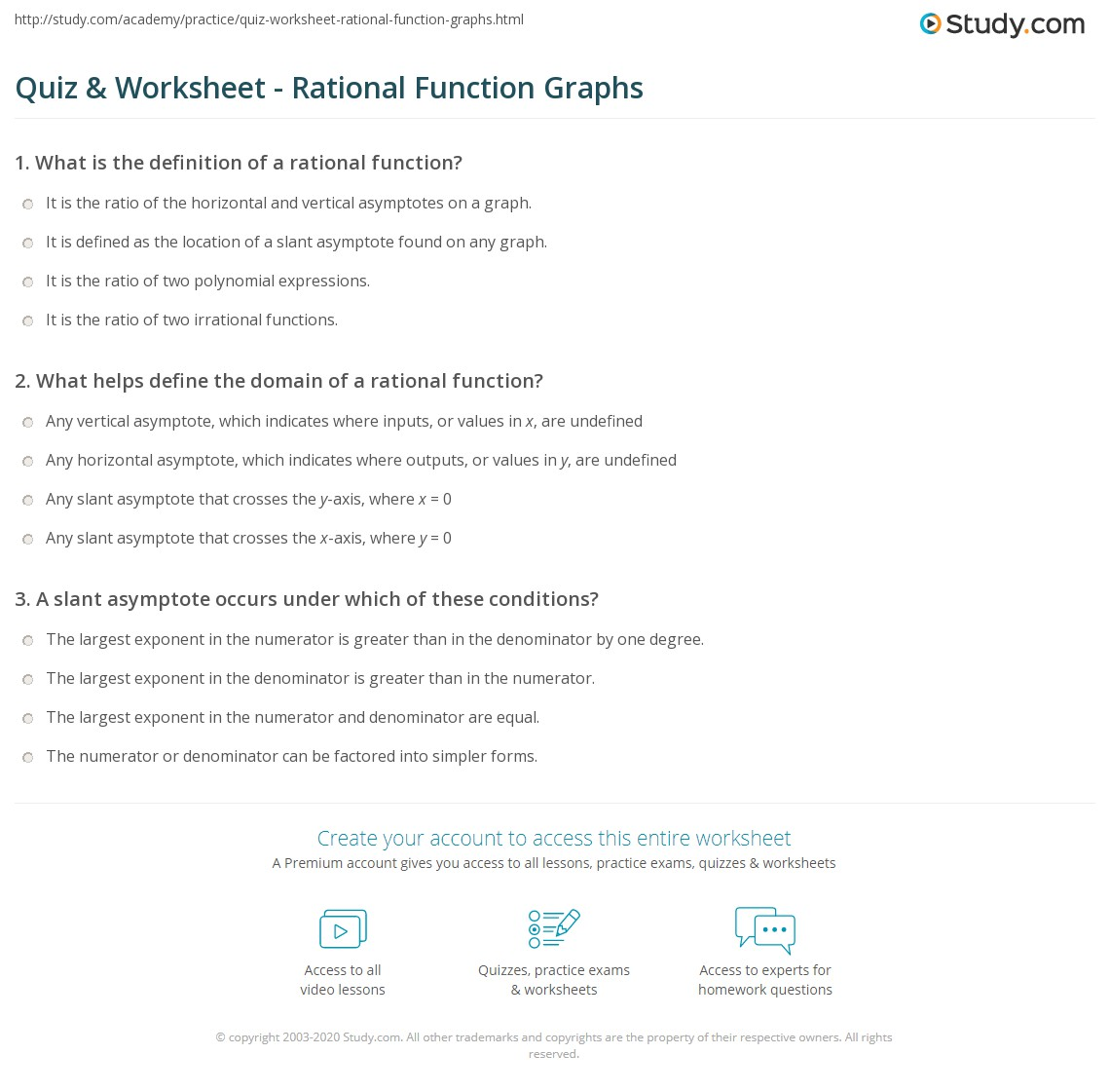 Worksheets Domain Range Worksheet quiz worksheet rational function graphs study com print analyzing the graph of a asymptotes domain and range worksheet