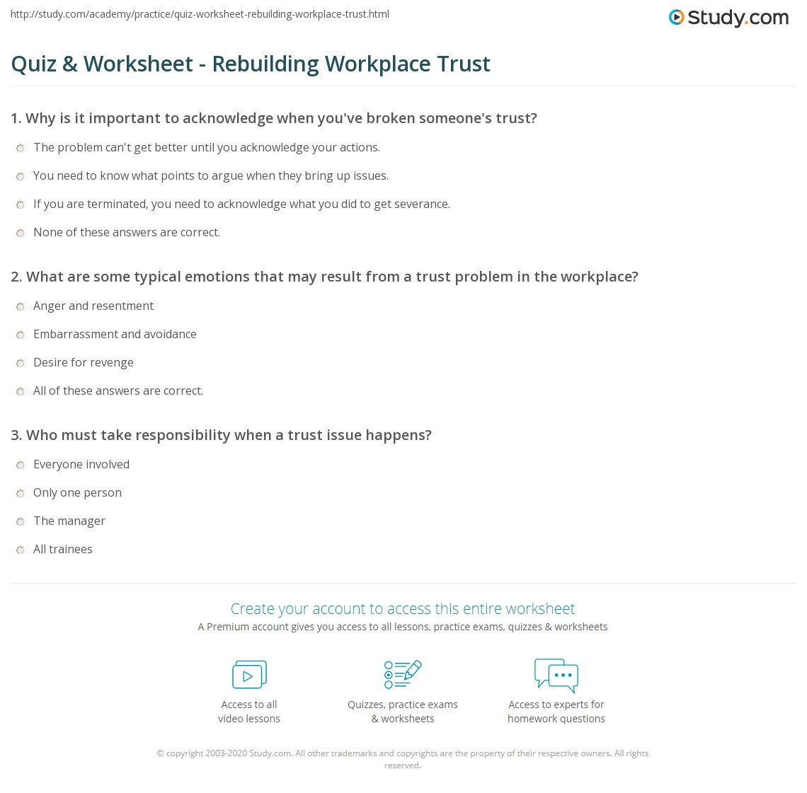 Responsibility Worksheet – Character Building Worksheets