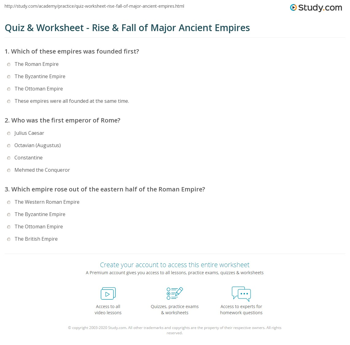 quiz worksheet rise fall of major ancient empires com print rise fall of the r ott byzantine empires worksheet