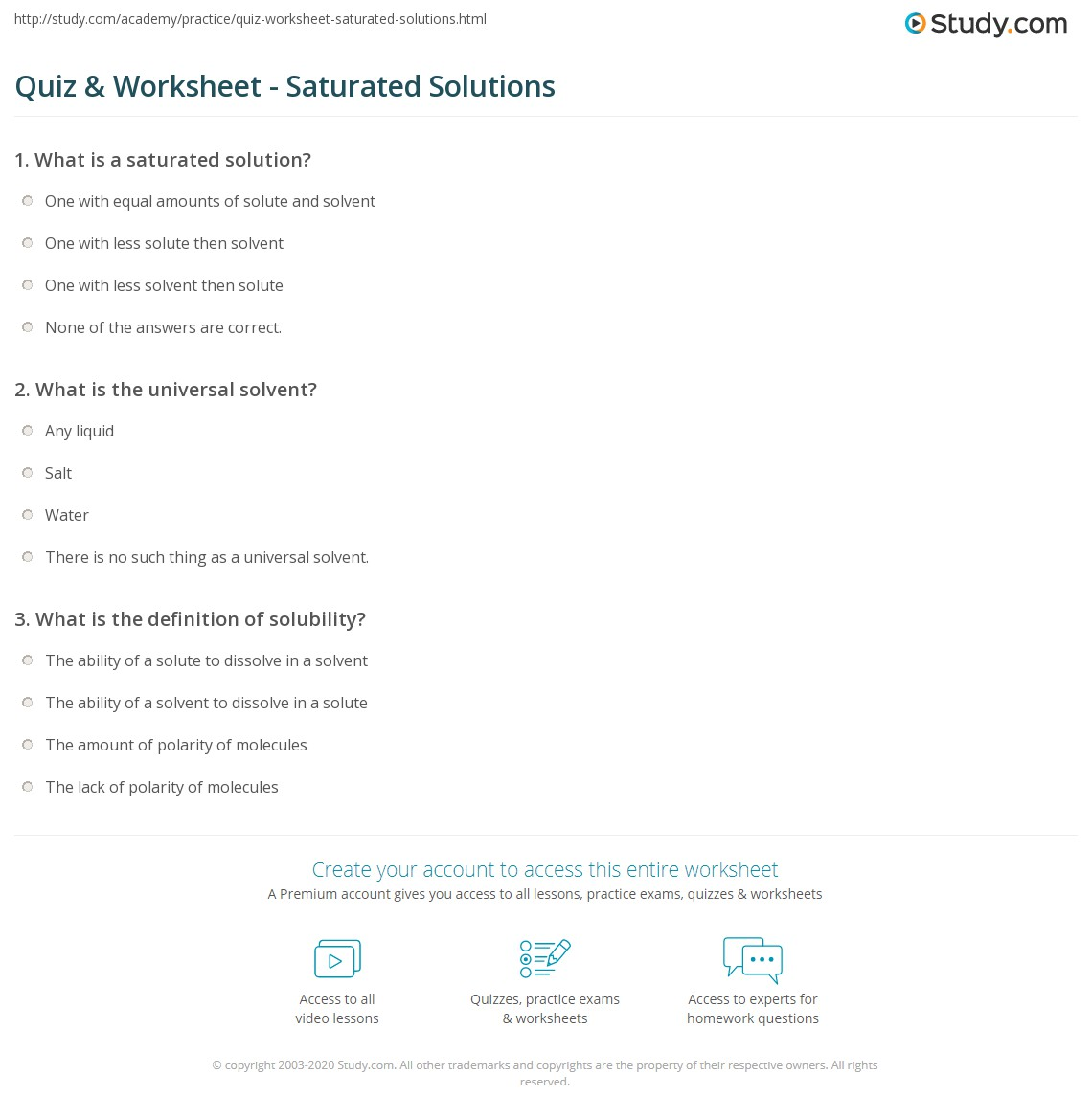 Uncategorized Solutions Worksheet Answers quiz worksheet saturated solutions study com print solution definition examples worksheet
