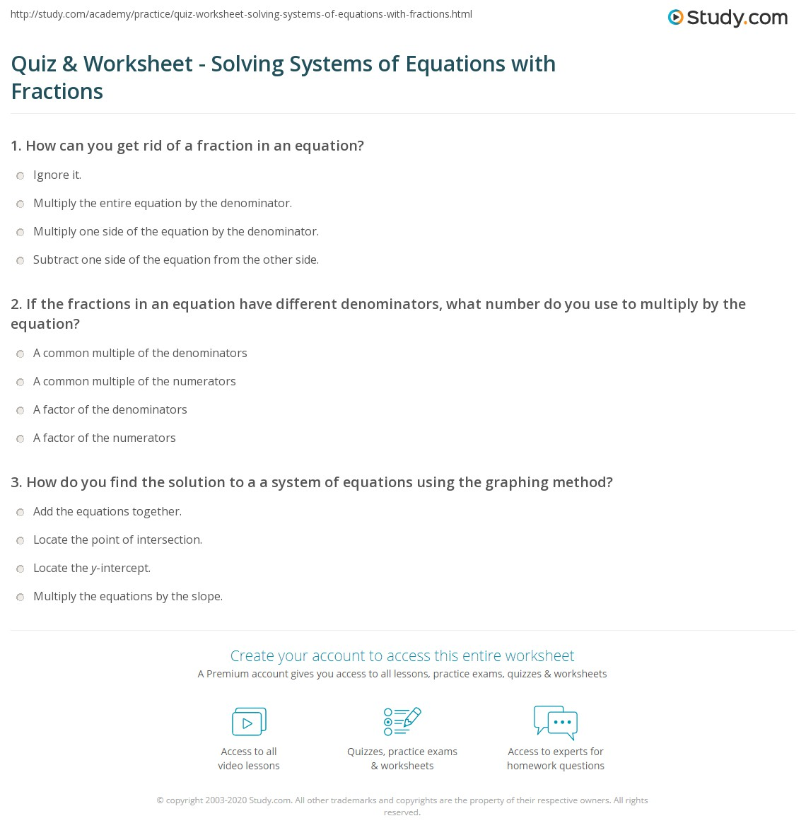Printables Solving Fractional Equations Worksheet systems of equations worksheet with fractions intrepidpath quiz solving fractions