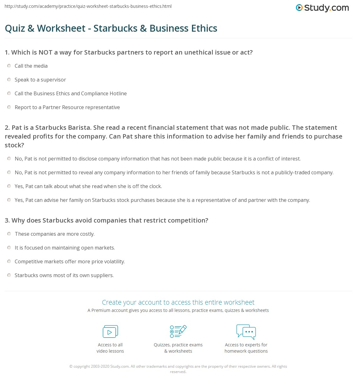 business ethics case studies answers  business ethics case studies answers