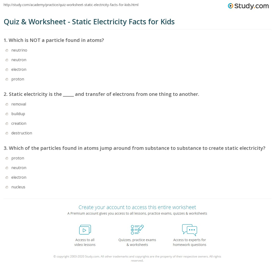 Static Electricity For Kids Worksheets – Bill Nye Plants Worksheet