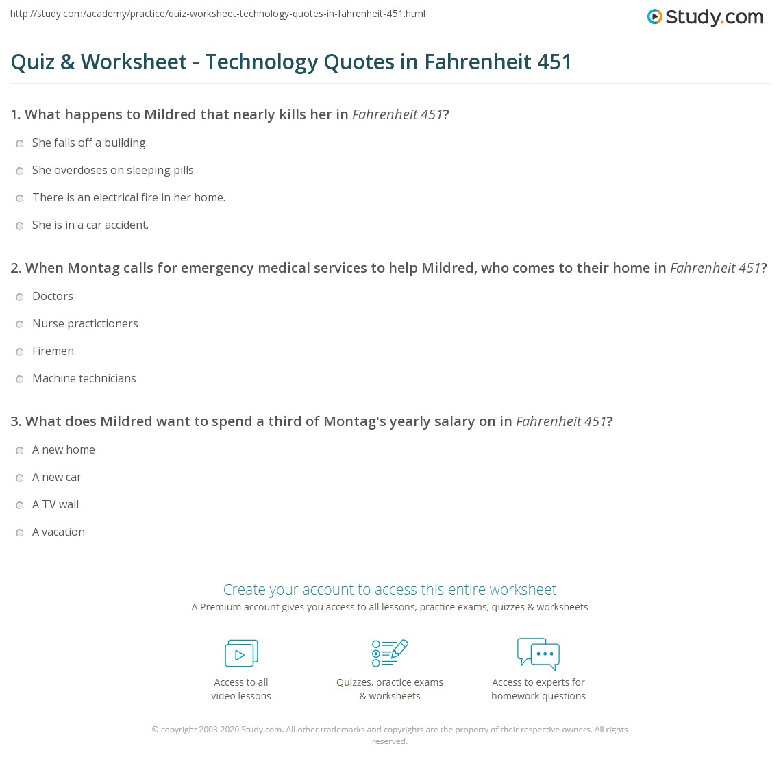 quiz worksheet technology quotes in fahrenheit com print technology quotes in fahrenheit 451 examples analysis worksheet