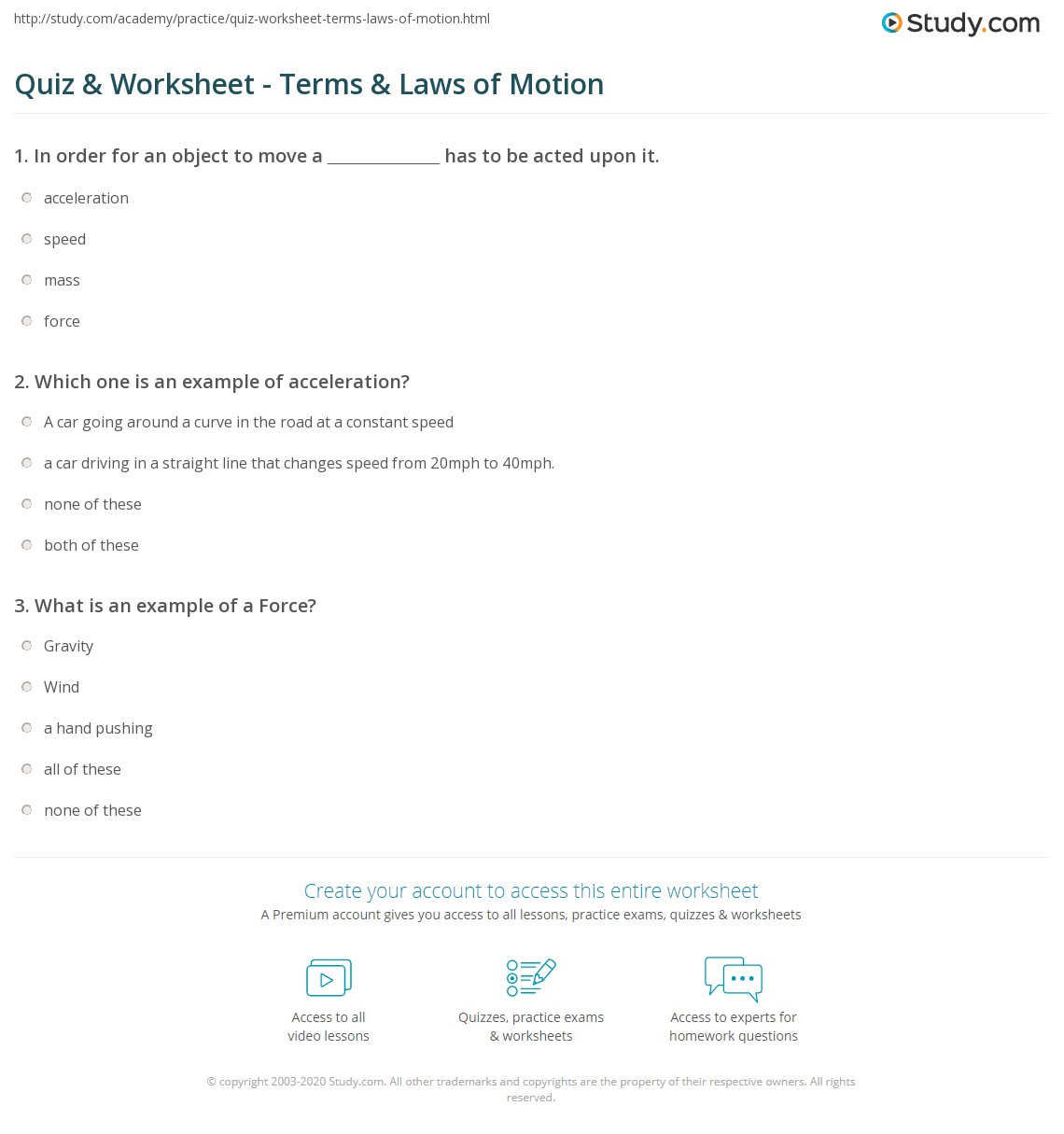 worksheet Laws Of Motion Worksheet quiz worksheet terms laws of motion study com print what is definition worksheet