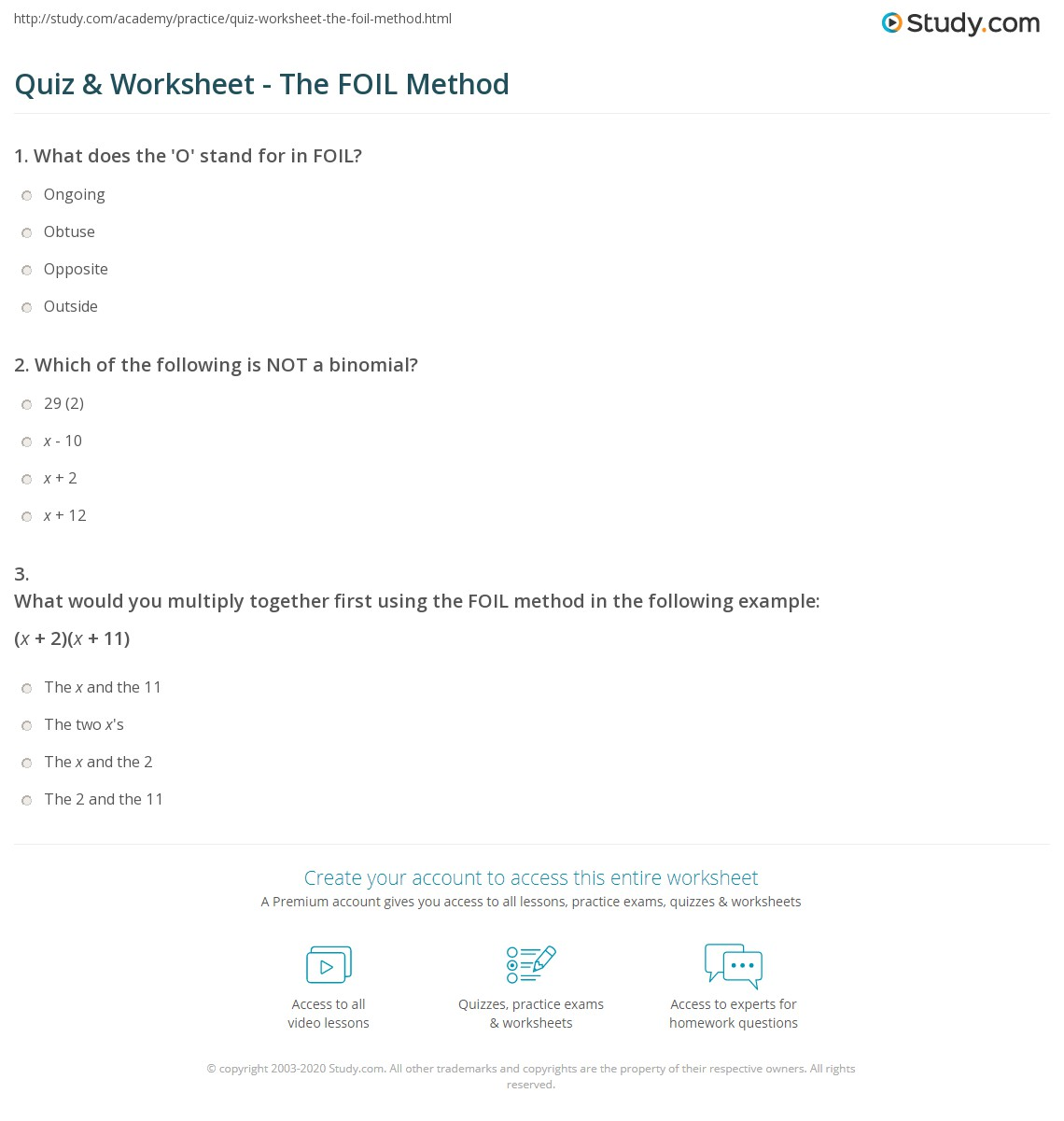 Uncategorized Foil Worksheets quiz worksheet the foil method study com print what does in math mean worksheet