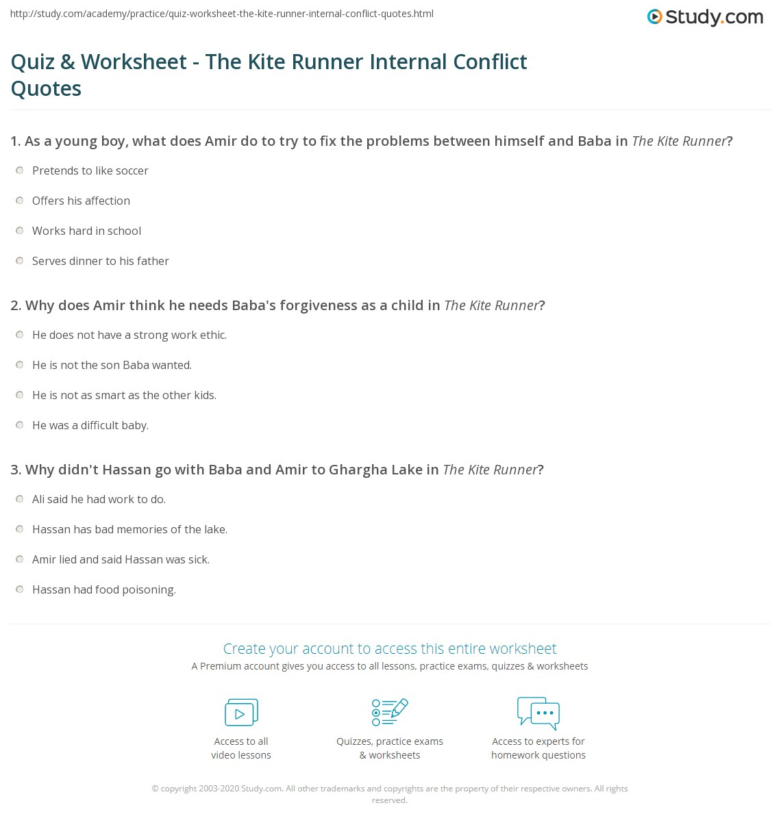 the kite runner amir conflict kite aquatechnics biz source acircmiddot quiz worksheet the kite runner internal conflict quotes