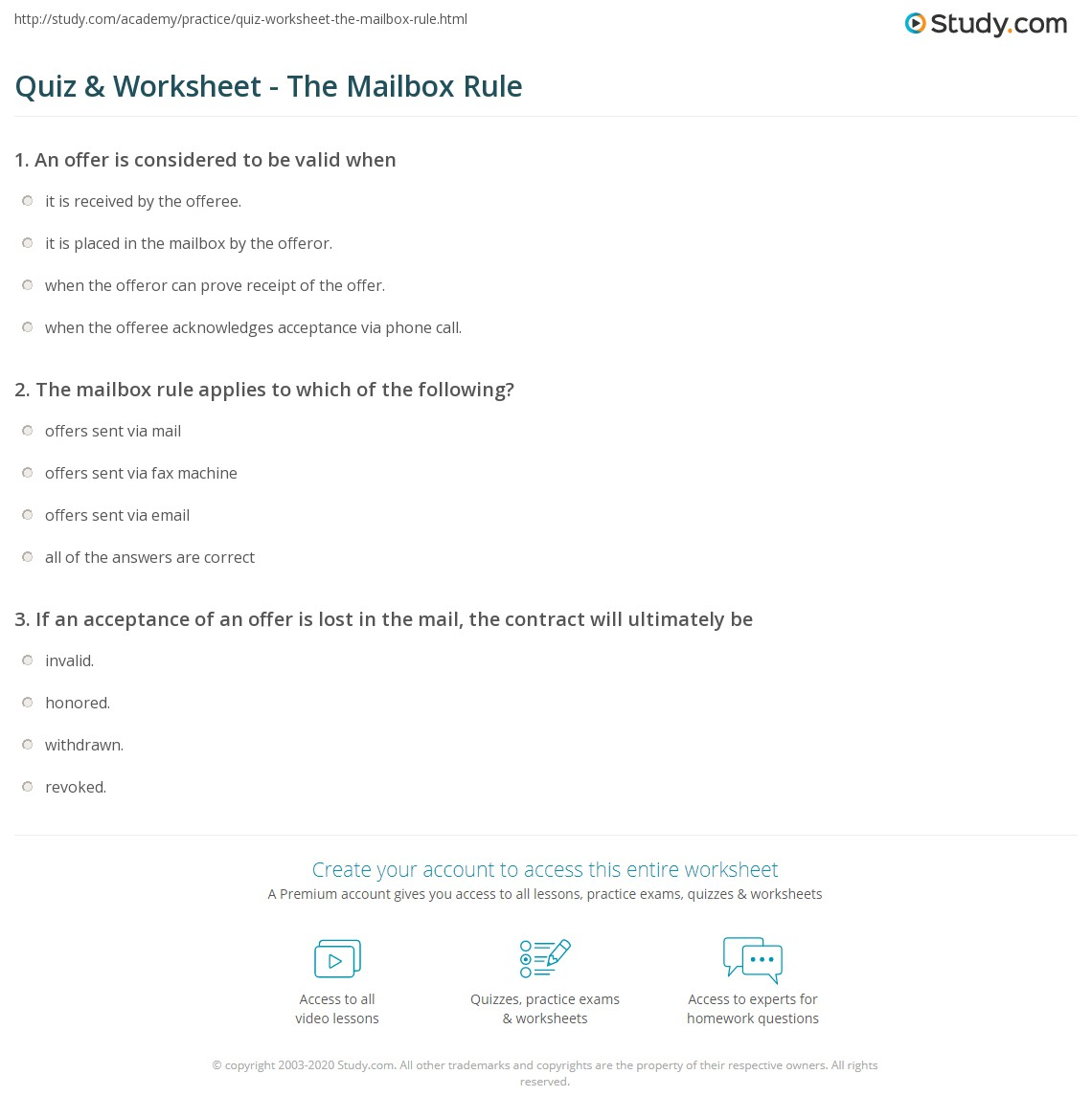 Worksheets The Mailbox Worksheets worksheet the mailbox worksheets mytourvn study site quiz rule com print and contract law worksheet