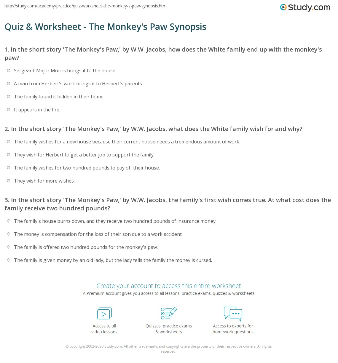 essay on the monkey s paw 91 121 113 106 essay on the monkey s paw