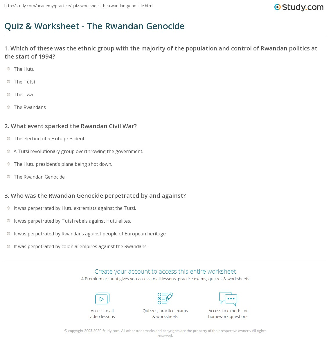 worksheet Hotel Rwanda Worksheet hotel rwanda essay about paper smoking research paperquot genocide quiz amp worksheet the rwandan study com print facts