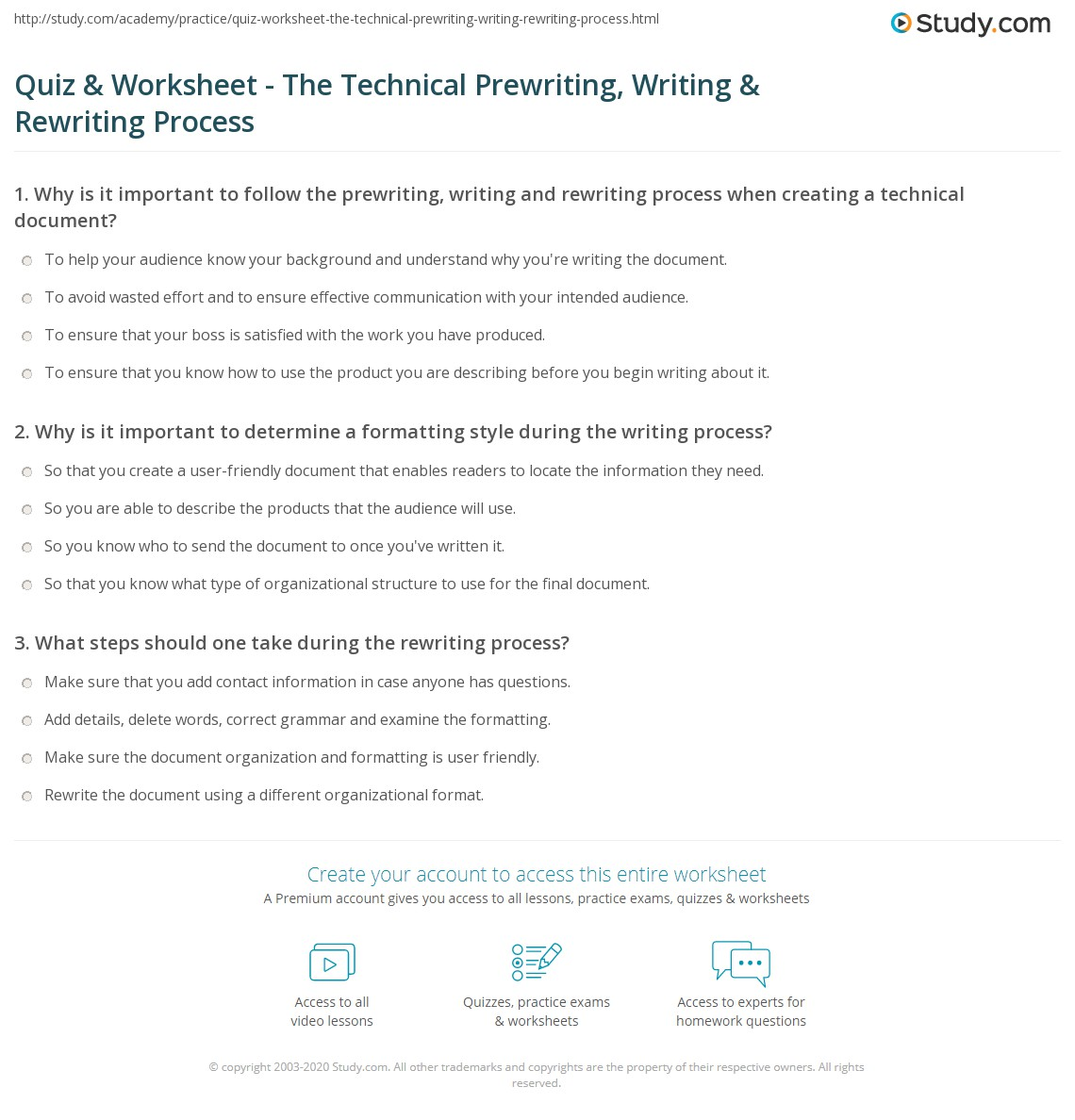 process of technical writing What's the difference between an operations manuals and a procedures guide the difference is that the operations manual is usually.