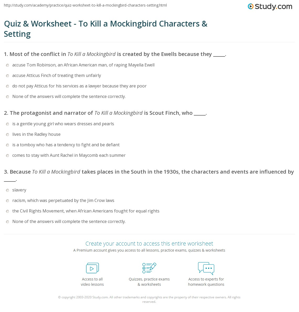 quiz worksheet to kill a mockingbird characters setting print to kill a mockingbird characters setting author worksheet