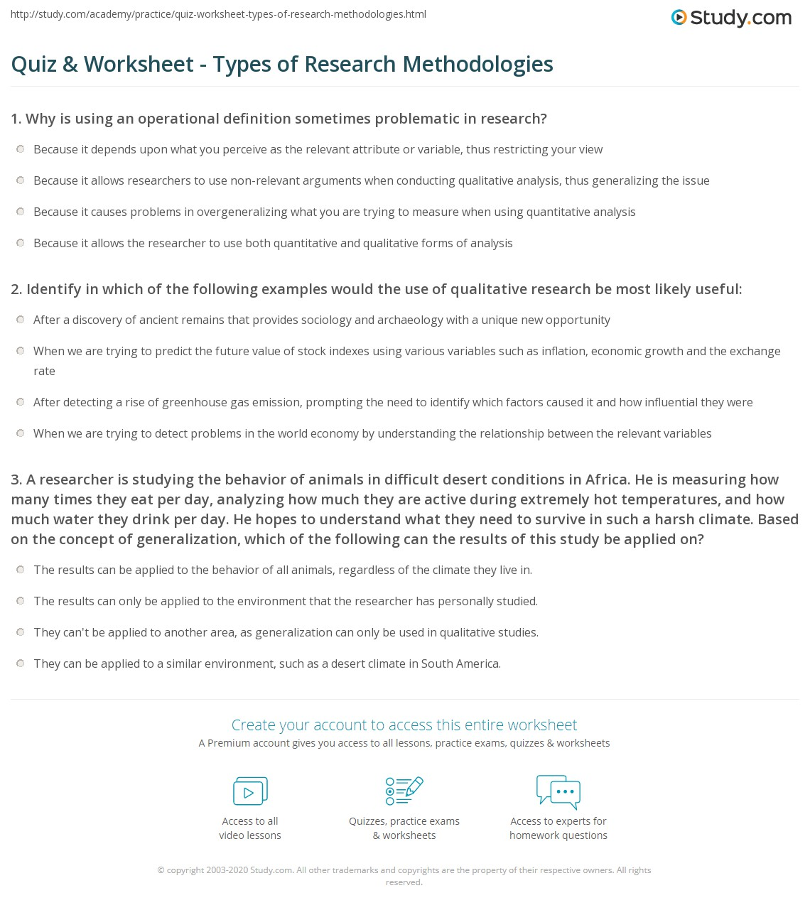 Quiz amp Worksheet Types Of Research Methodologies Studycom Quiz Worksheet Types Of Research Methodologies Quiz Worksheet Types Of Research Methodologies