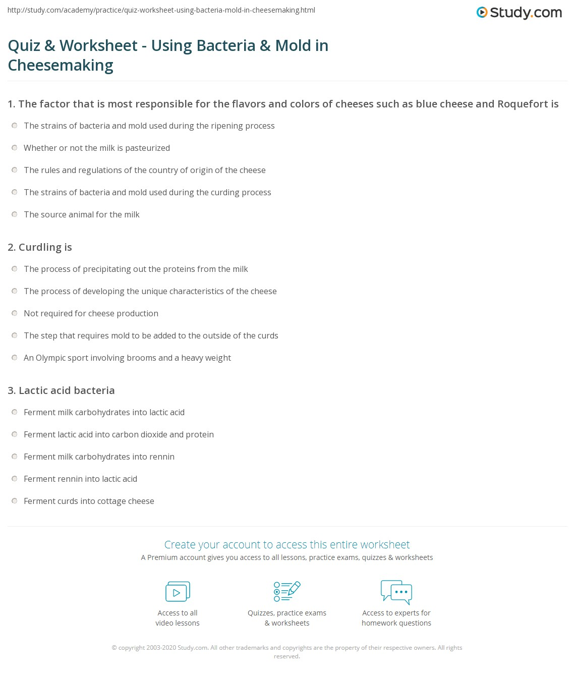 Uncategorized Bacteria Worksheet quiz worksheet using bacteria mold in cheesemaking study com print and the microbiology of worksheet