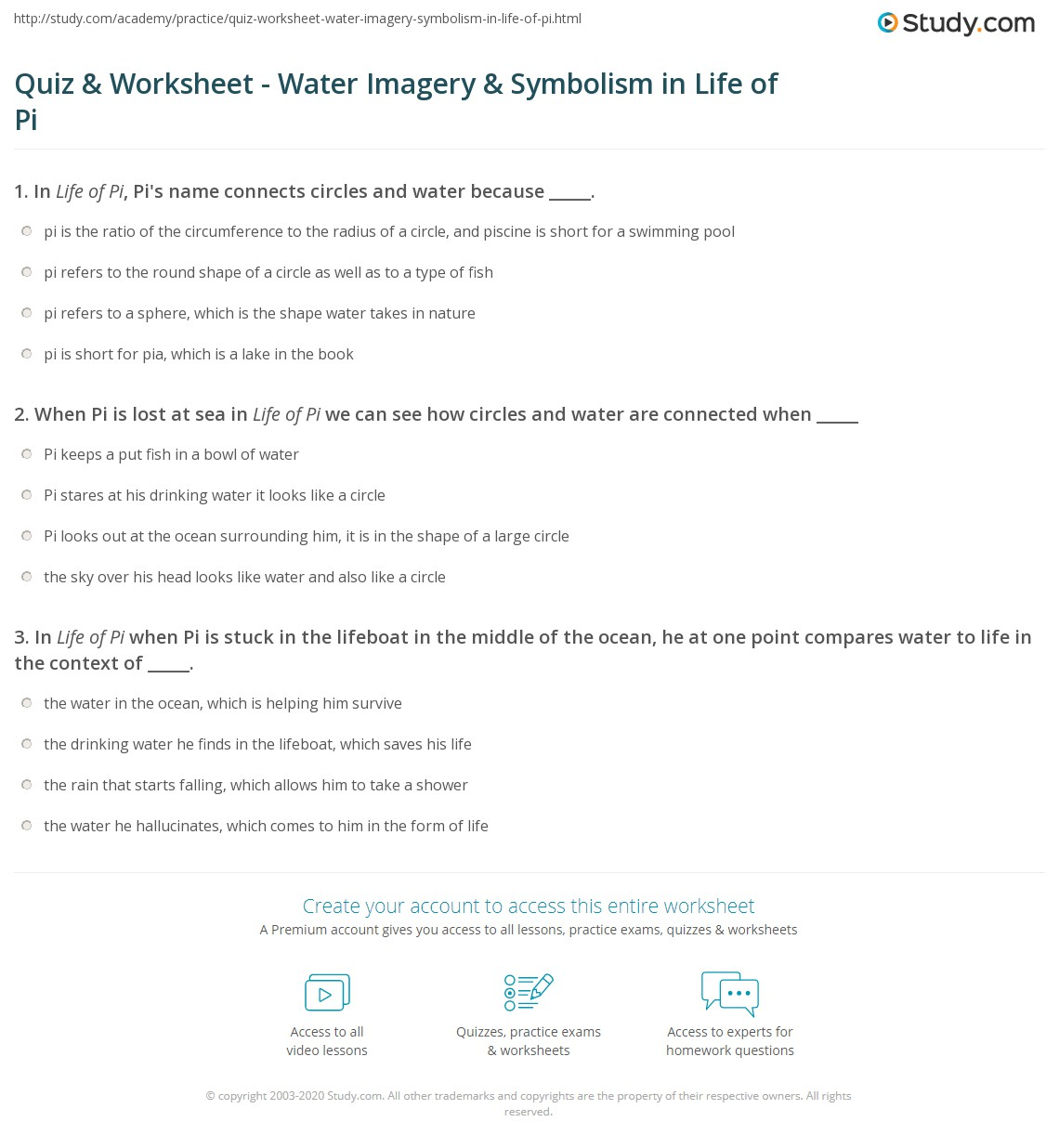 Printables Imagery Worksheets imagery and symbolism worksheets photo album worksheet for kids quiz water in life of pi study com