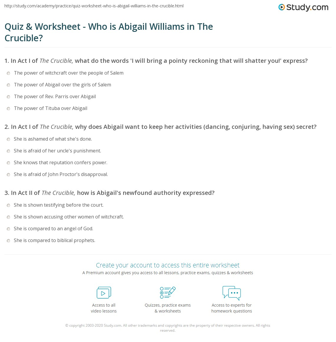 the crucible worksheet delibertad quiz worksheet who is abigail williams in the crucible