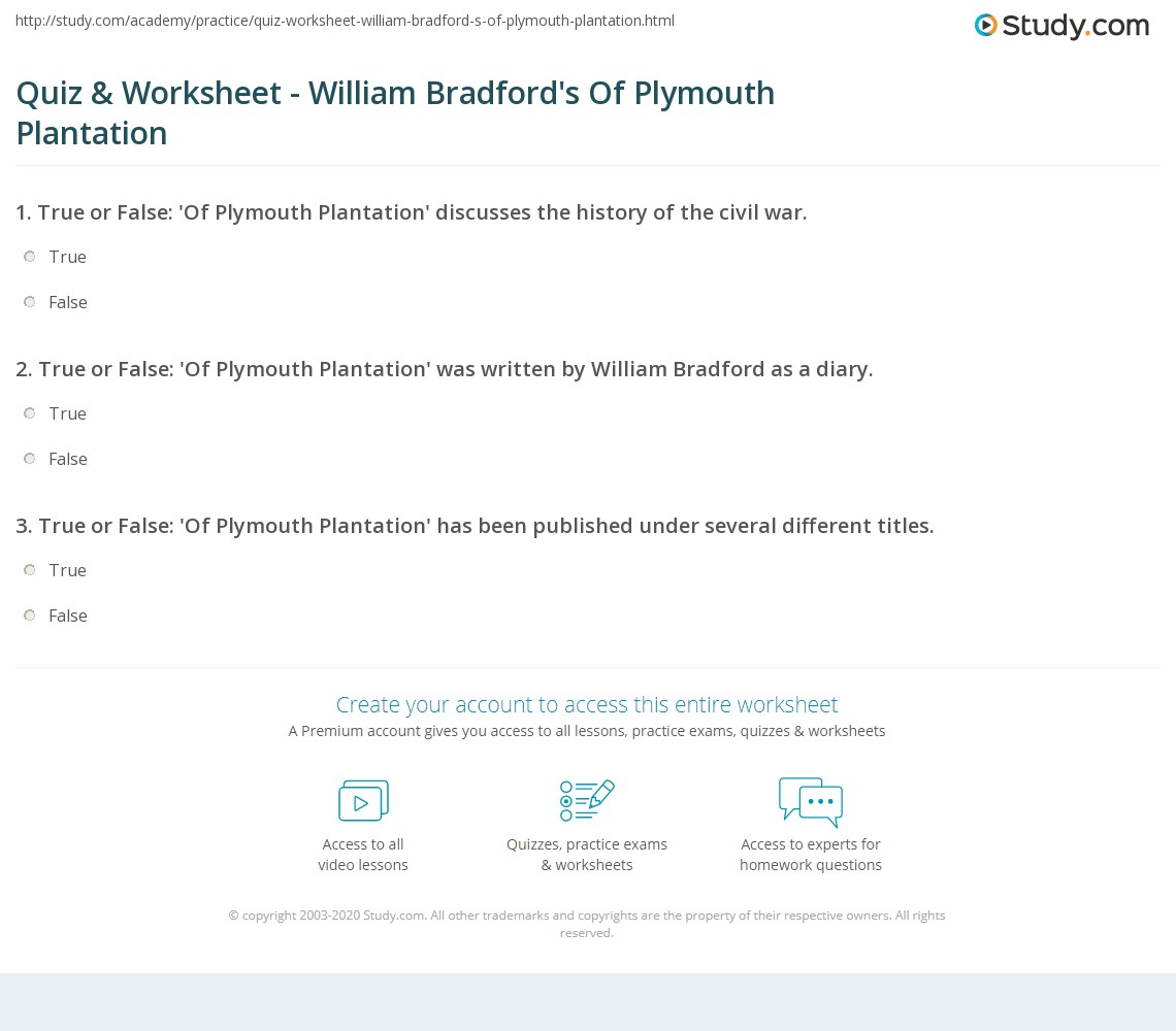 28 Of Plymouth Plantation Worksheet Civil War