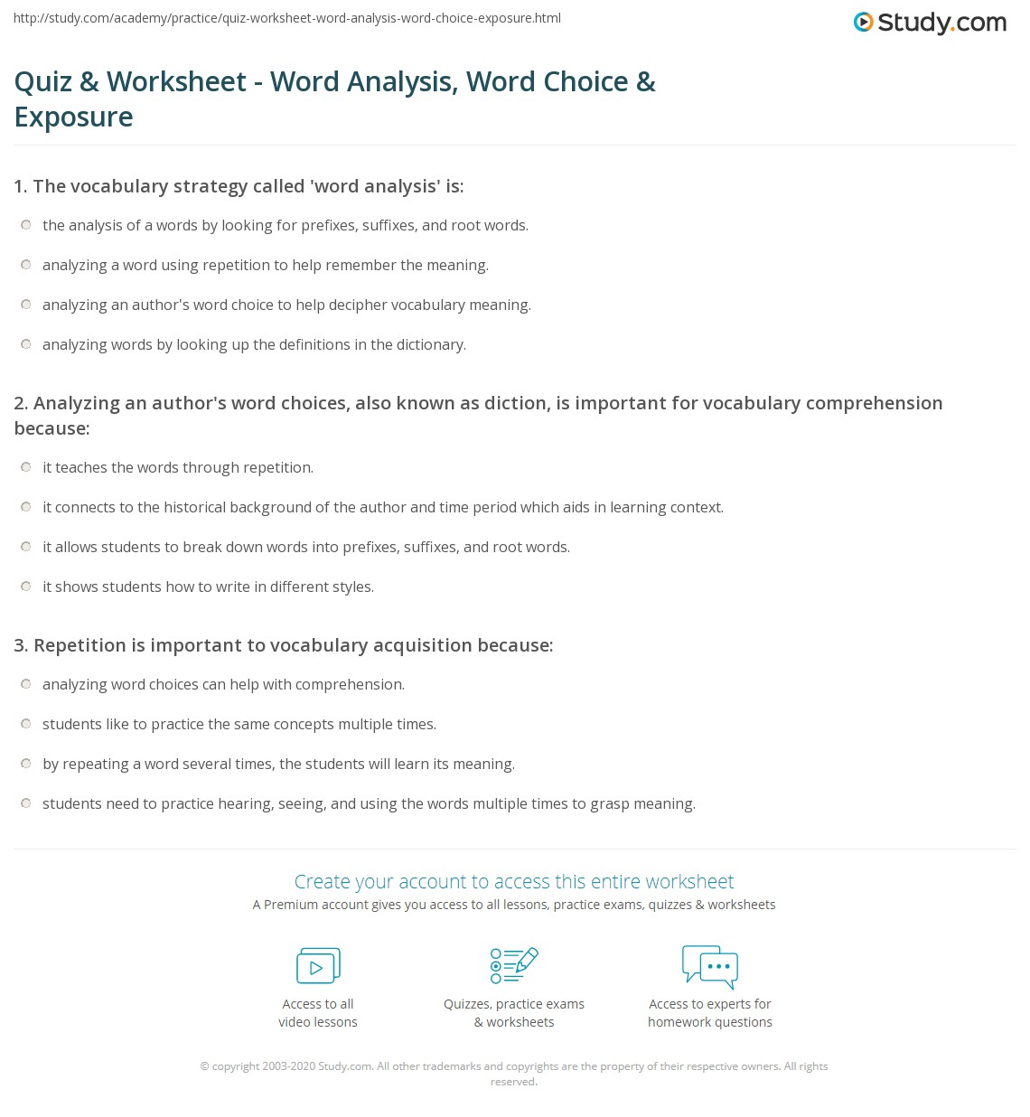 analysis vocabulary Vocabulary list with words used for analyzing texts in english - a - m.