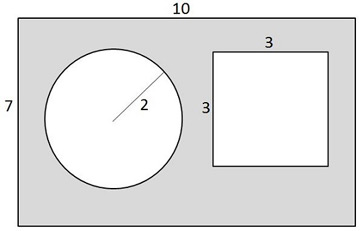 Worksheets Find The Area Of The Shaded Region Worksheet With Answers glencoe math chapter 9 area practice test questions what is the approximate of shaded region in shape below